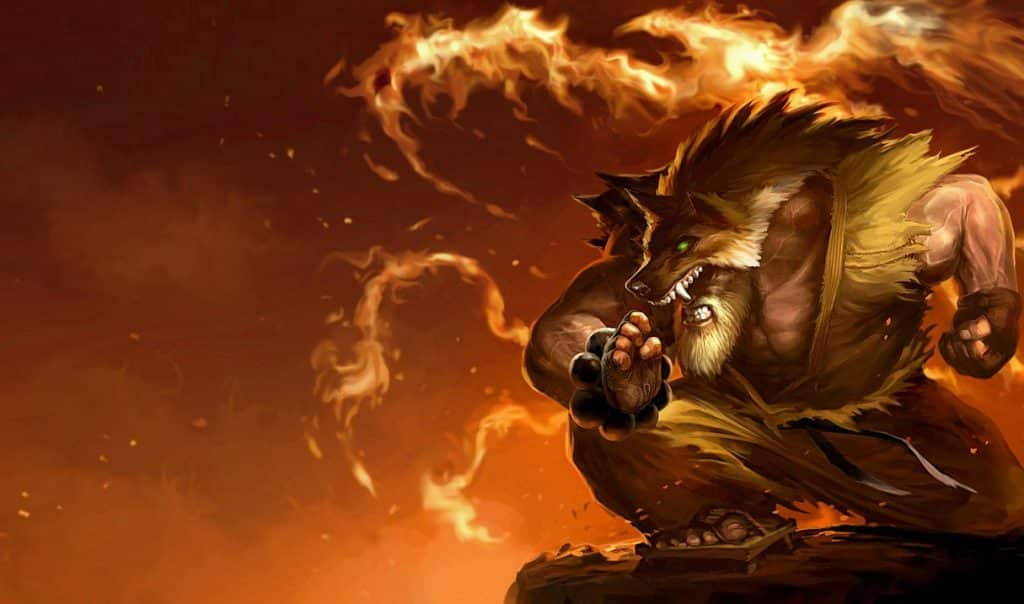 Udyr wearing a karate outfit