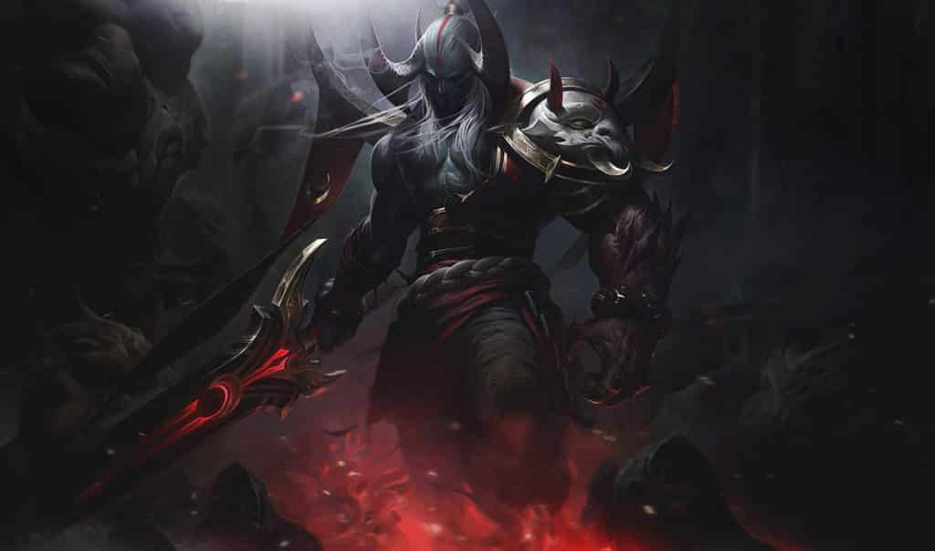 Aatrox filled with the power of the blood moon