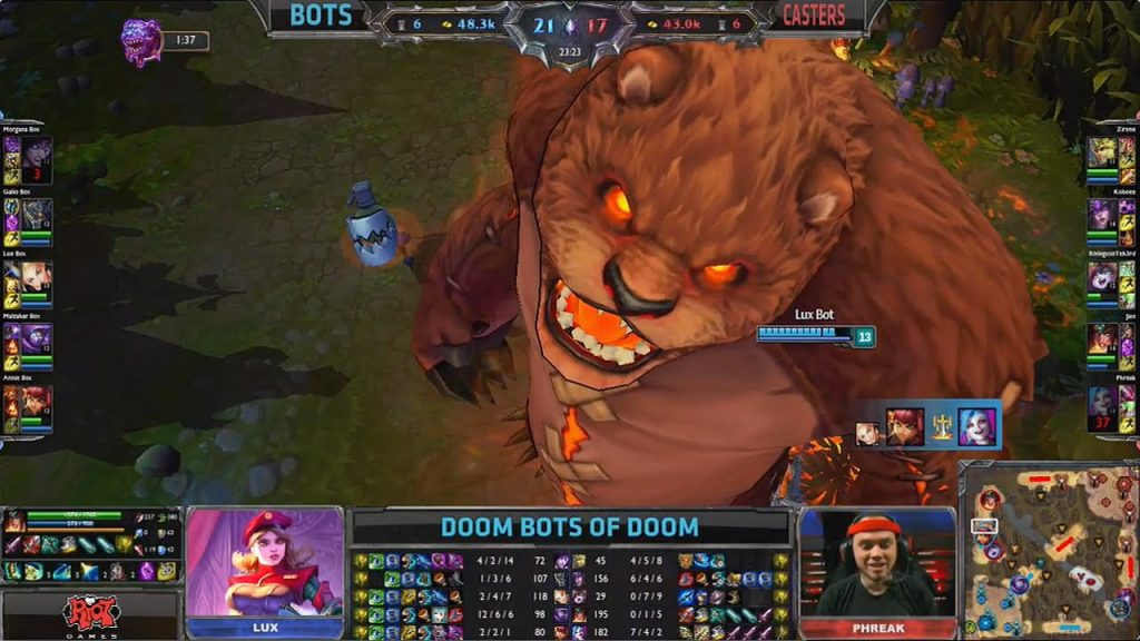 A gigantic tibbers takes over the screen | League of Legends Events