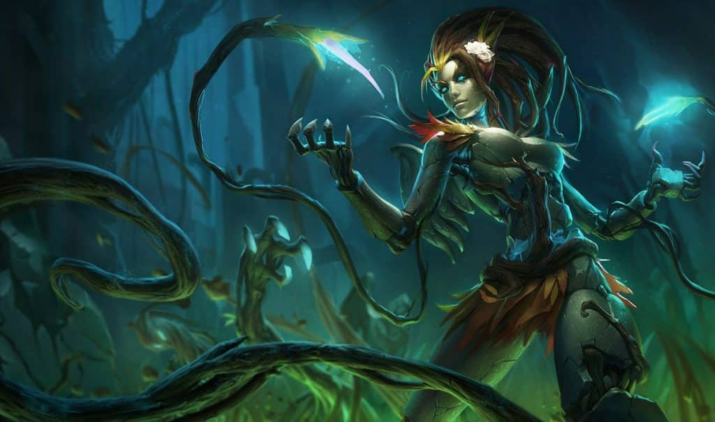 Undead Zyra looking at wilting plants   LoL Supprt Tips