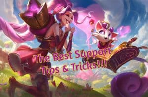 Yuumi and Jinx wearing valentines clothes | LoL Support Tips Banner