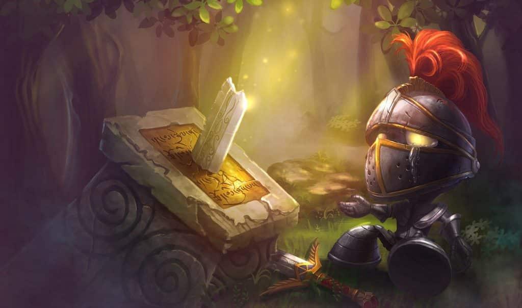 Amumu Crying over a broken sword