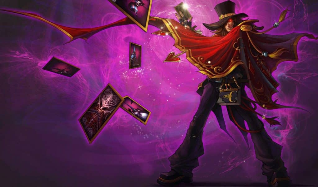 Twisted Fate with a magnificent red cape