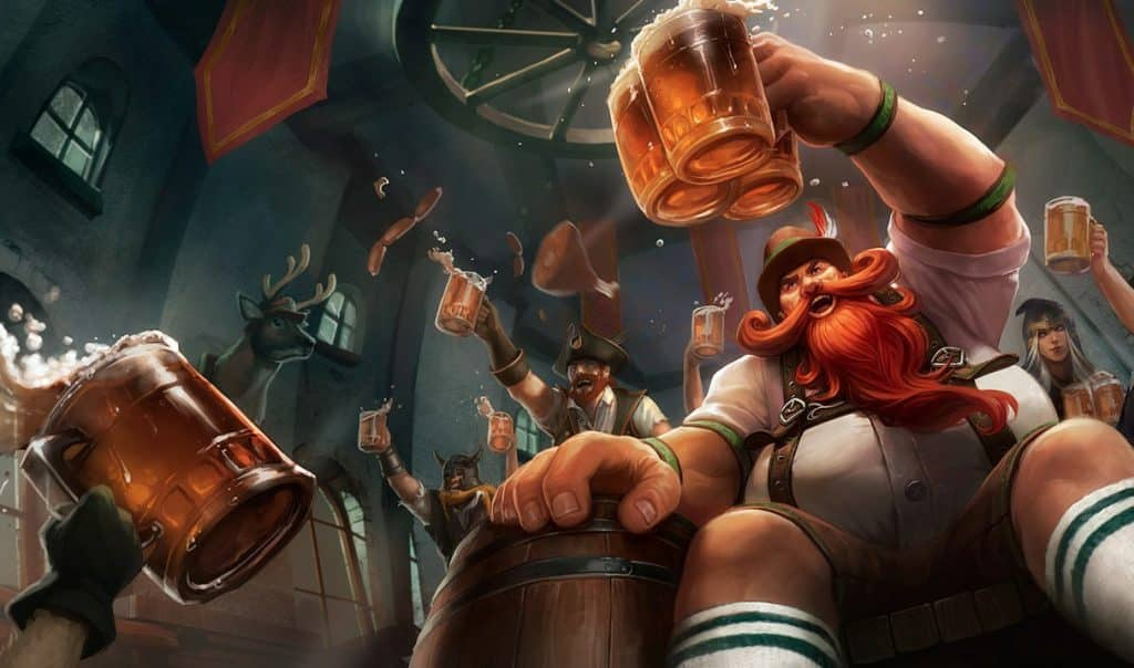 Gragas wearing stereotypical Irish clothing - Gragas Guide