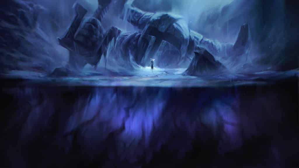 A watcher frozen under the ice