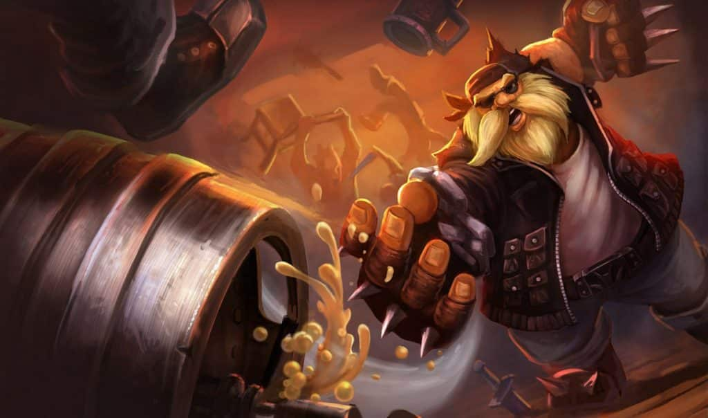 Gragas wearing a biker's outfit - Gragas Guide