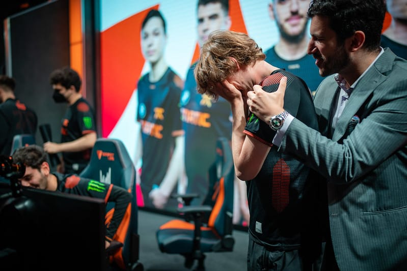 FNC Upset Crying in Disbelief - LEC Summer 2021 Playoffs