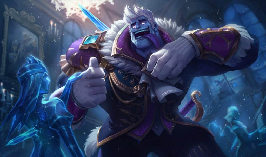Dr Mundo in an ice prince costume - Types of LoL Players