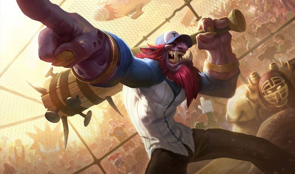 Trundle wearing a baseball outfit - Types of LoL Players