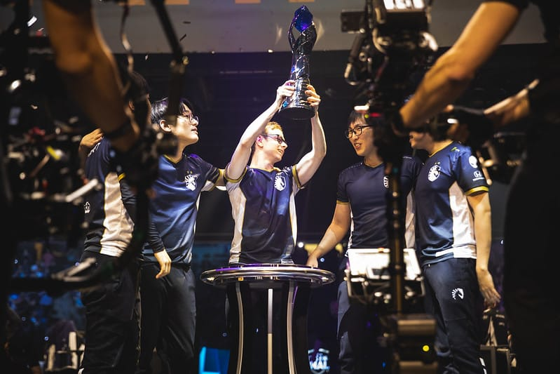 Jensen raising the LCS Trophy - How to Train Like A LoL Pro