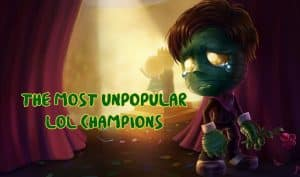 Amumu crying in the back of the stage - Most Unpopular LoL champions banner