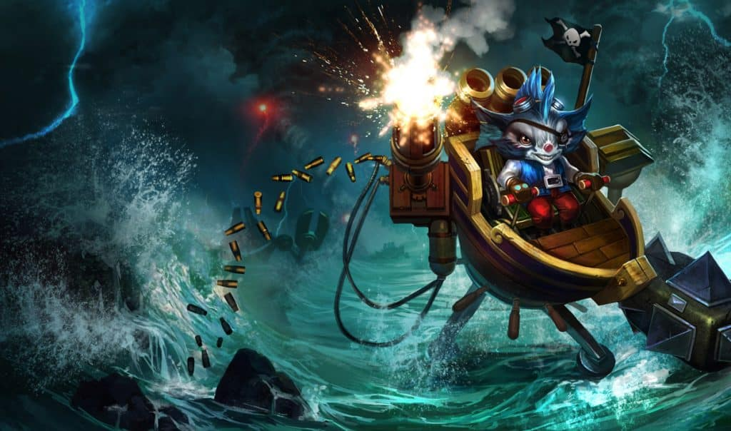 Rumble riding a pirate ship - Most Unpopular LoL Champs
