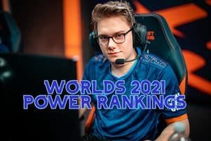 RGE Inspired smiling at the camera | Worlds 2021 Power Rankings Banner