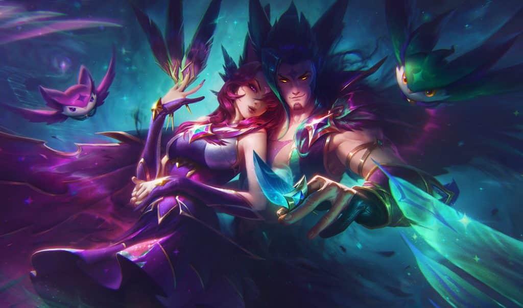 Rakan and Xayah as star guardians - Xayah guide