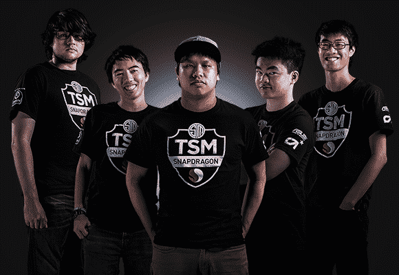 TSM's original roster featuring Dyrus, TheOddOne, Reginald, Chaox, and Wildturtle