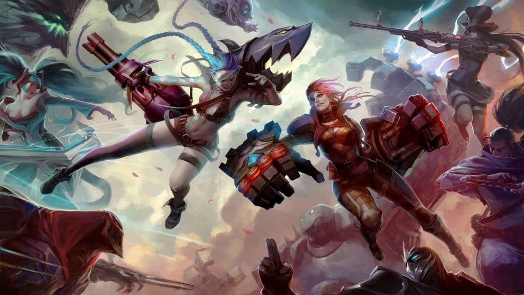 Jinx and Vi clashing in the LoL universe - Arcane series