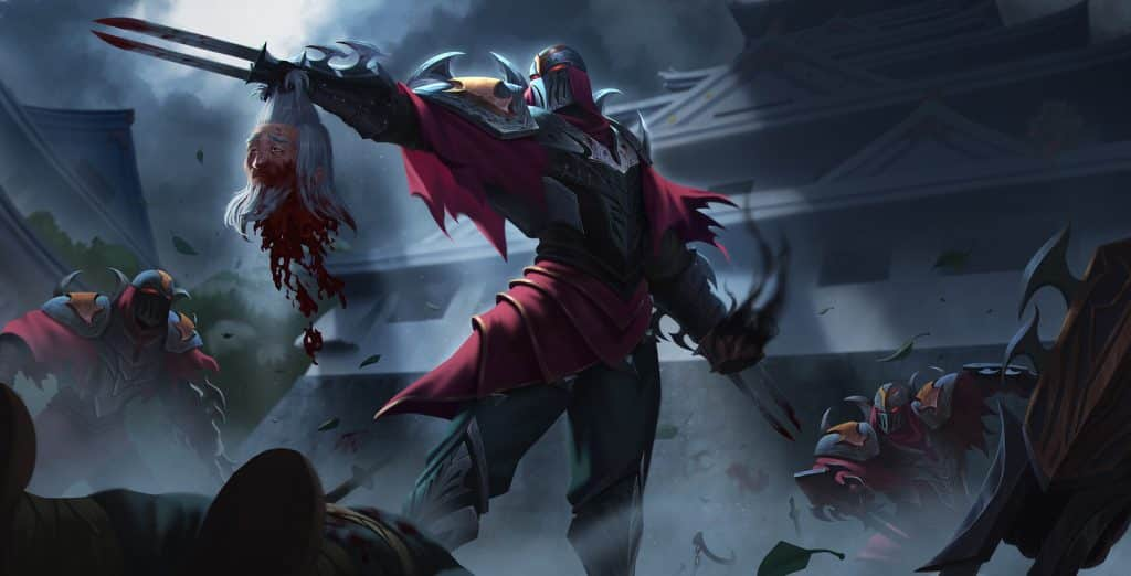 Zed ordering the shadow order on a mission