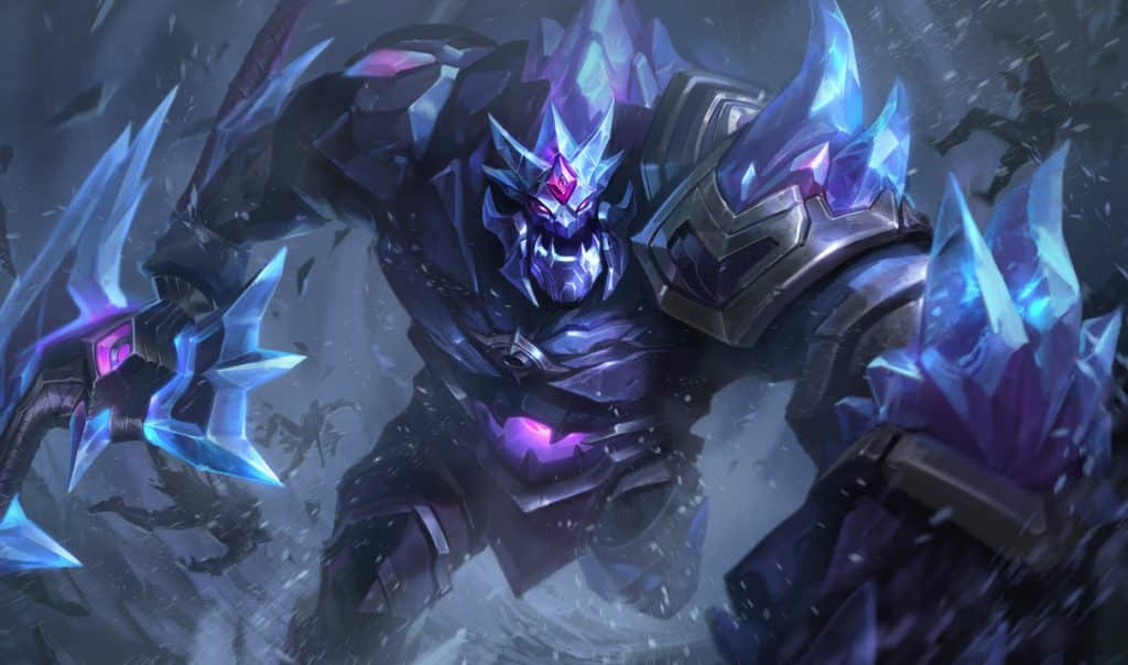 Sion covered in dark ice tankiest LoL champs