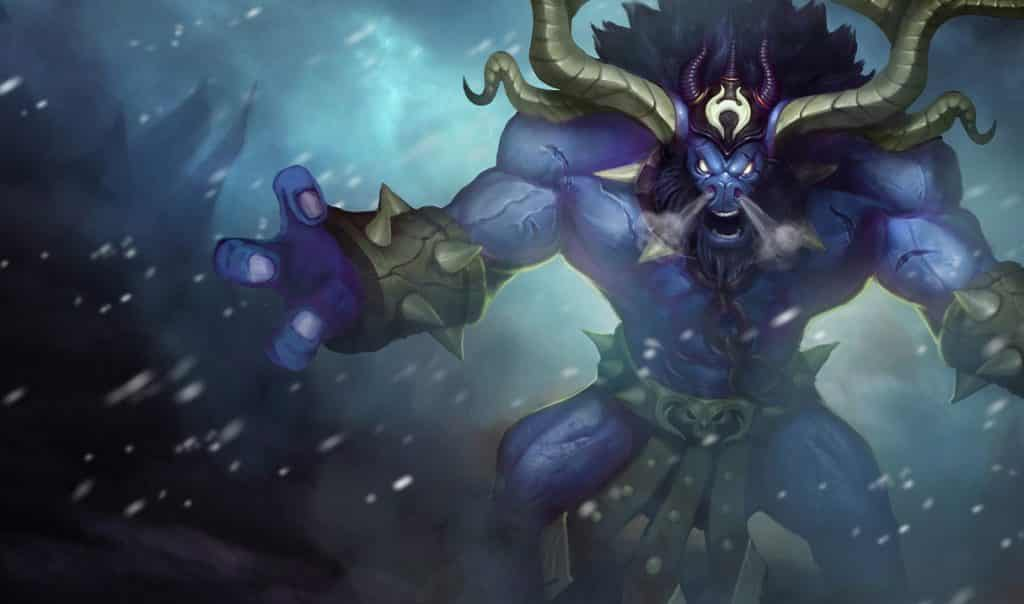 Alistar without his chains tankiest LoL champs